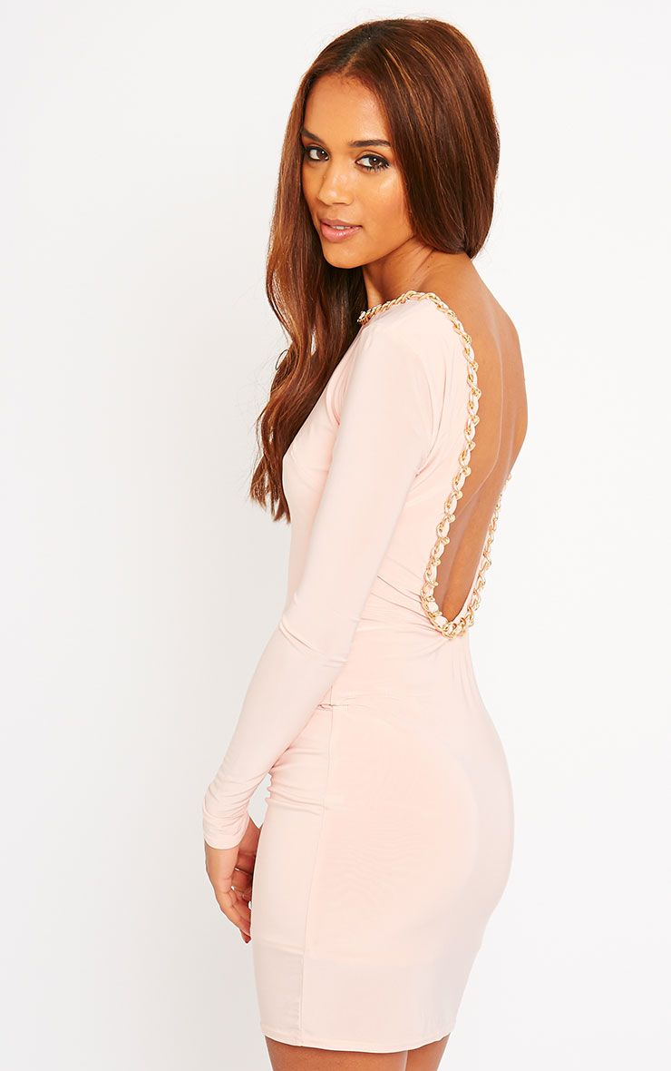 Penelope Nude Chain Back Dress 1