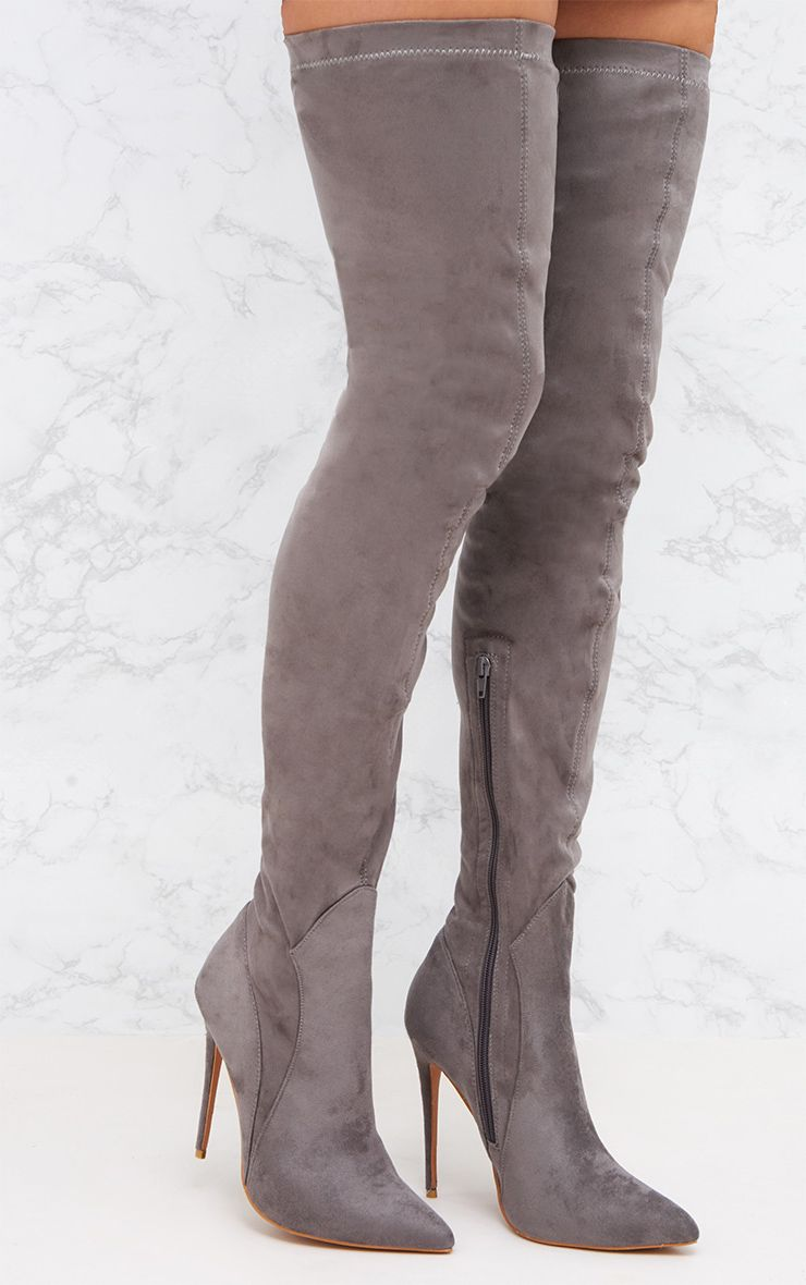 Ariana Grande Wearing Thigh High Boots Charles David Sycamore Gray Strech Suede Thigh High Over Knee Fitted Dress Boots. from sisk-profi.ga $ Alexander Wang Gabi Stretch Suede Thigh-High .