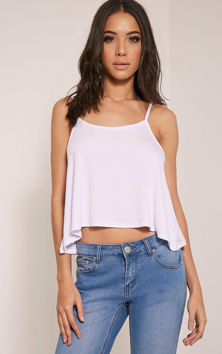 Basic White Jersey Swing Cami Top