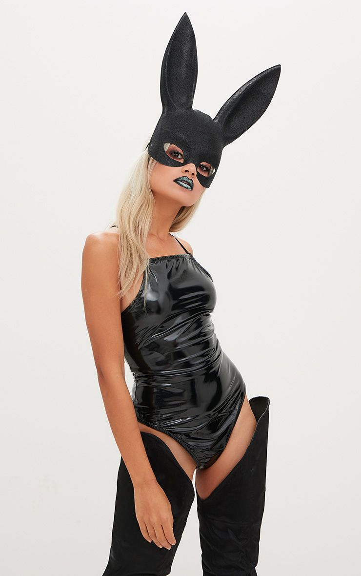 Black Rabbit Ear Mask