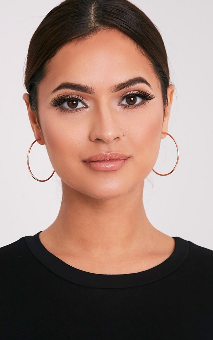 Three Pack Rose Gold Assorted Hoop Earrings