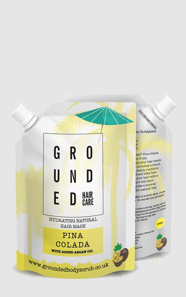 Grounded Pina Colada Crush Hair Mask