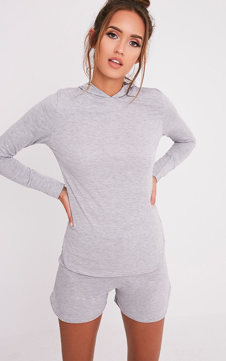 Basic Grey Jersey Hoodie