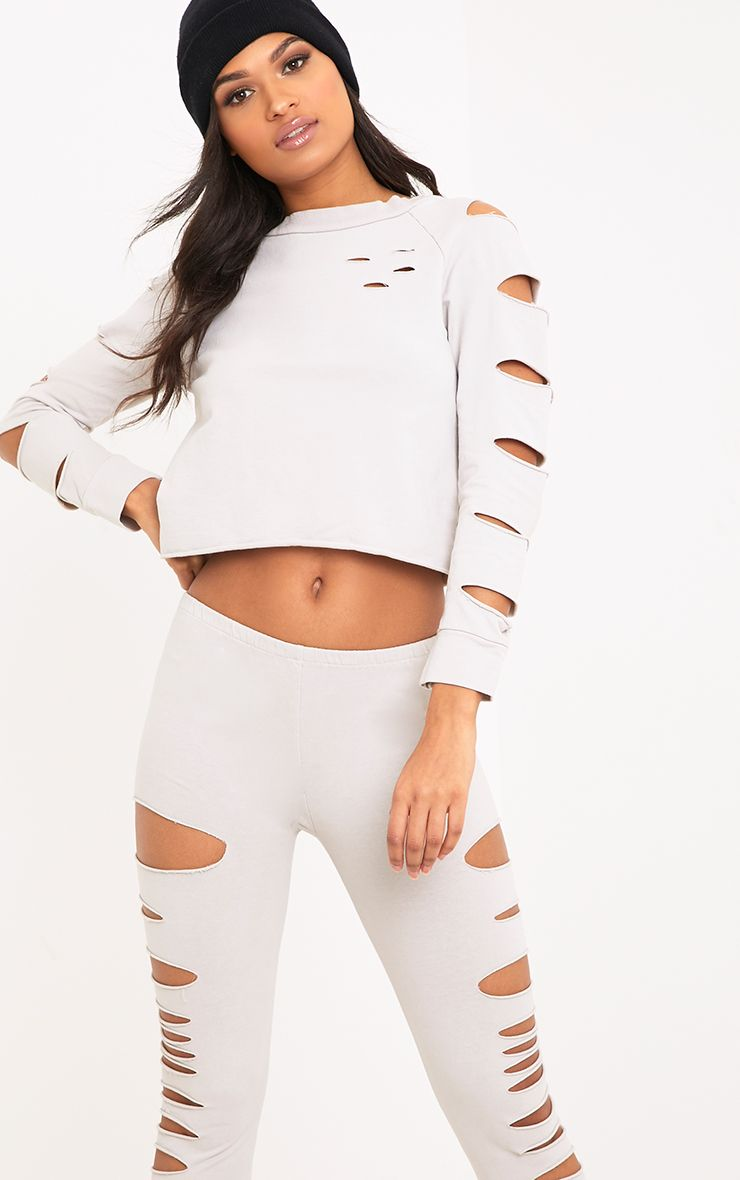 Carlie Stone Ripped Sleeve Sweater