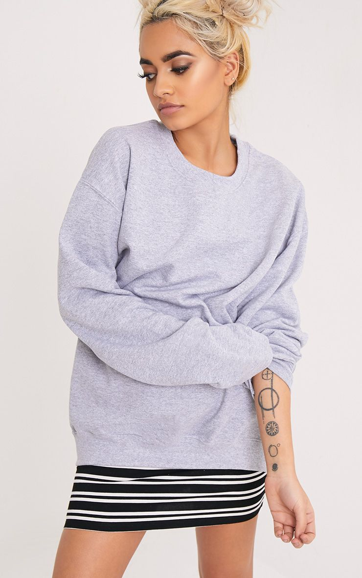 Ultimate Grey Marl Crew Neck Sweater