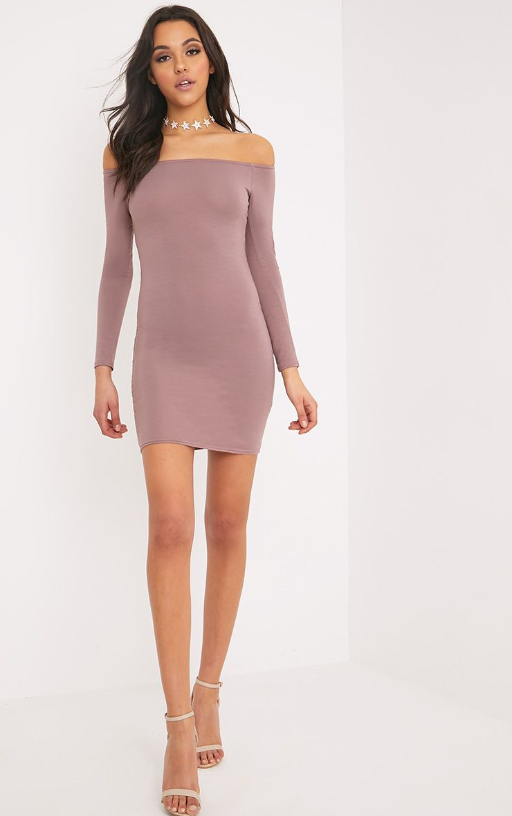 Basic Truffle Bardot Bodycon Dress