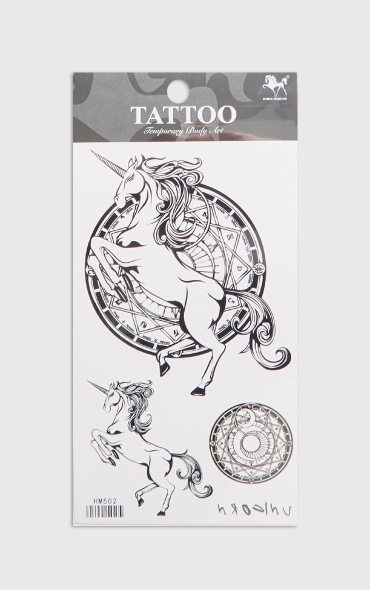 Unicorn Black Tattoo Kit