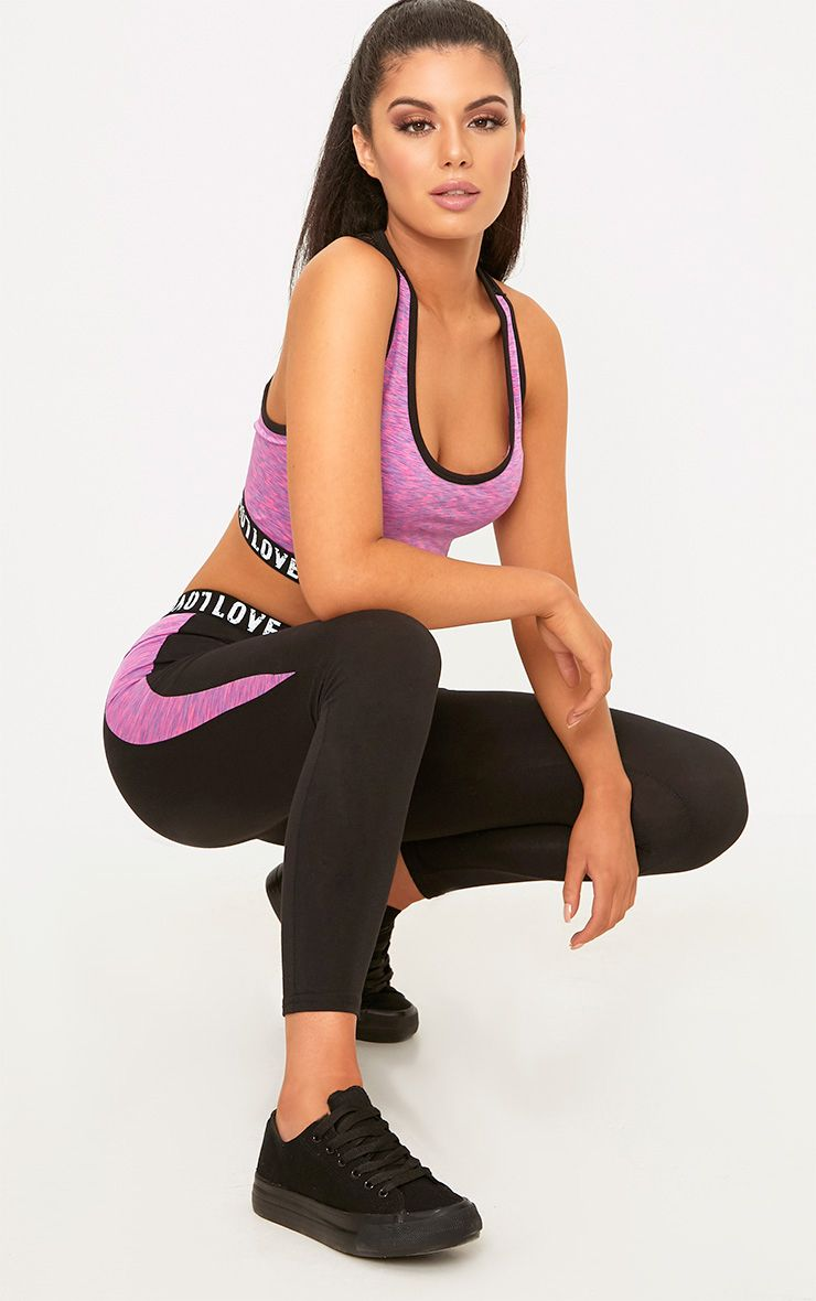 Pink Melange Gym Leggings