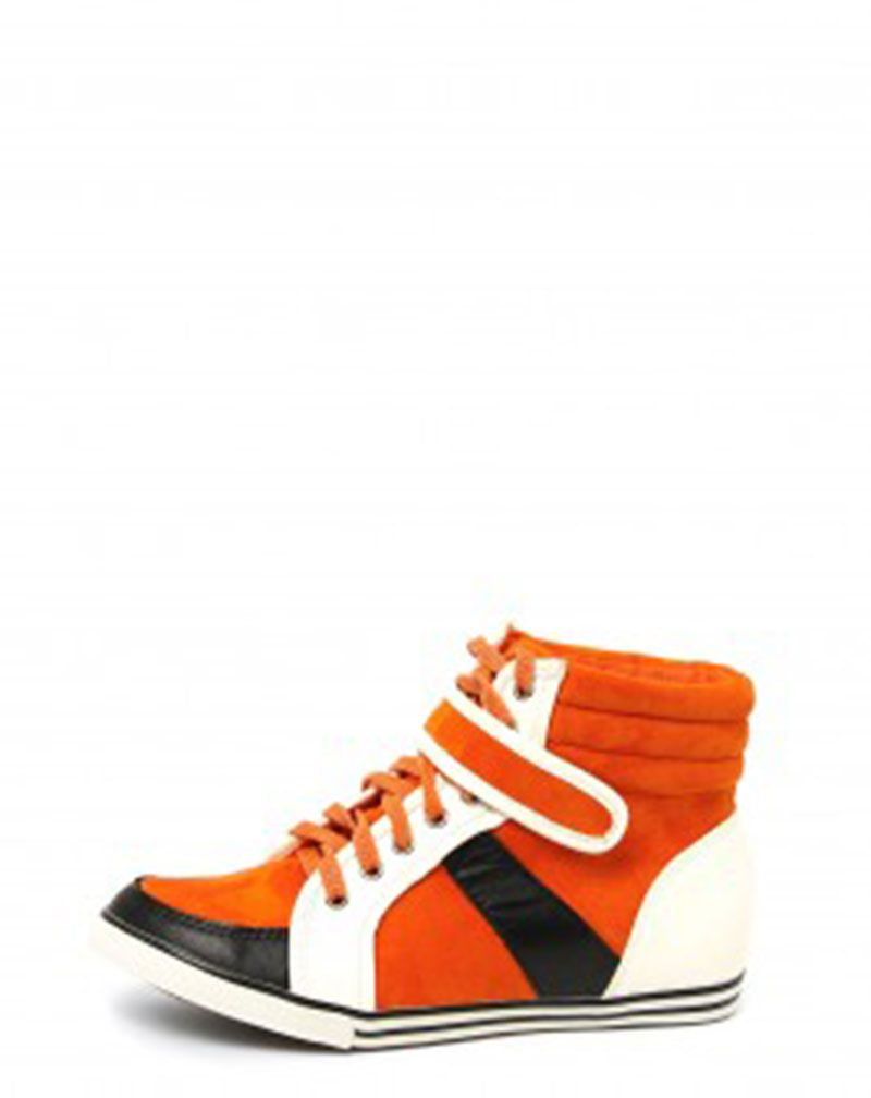 Sport Luxe Orange Trainers-4 1