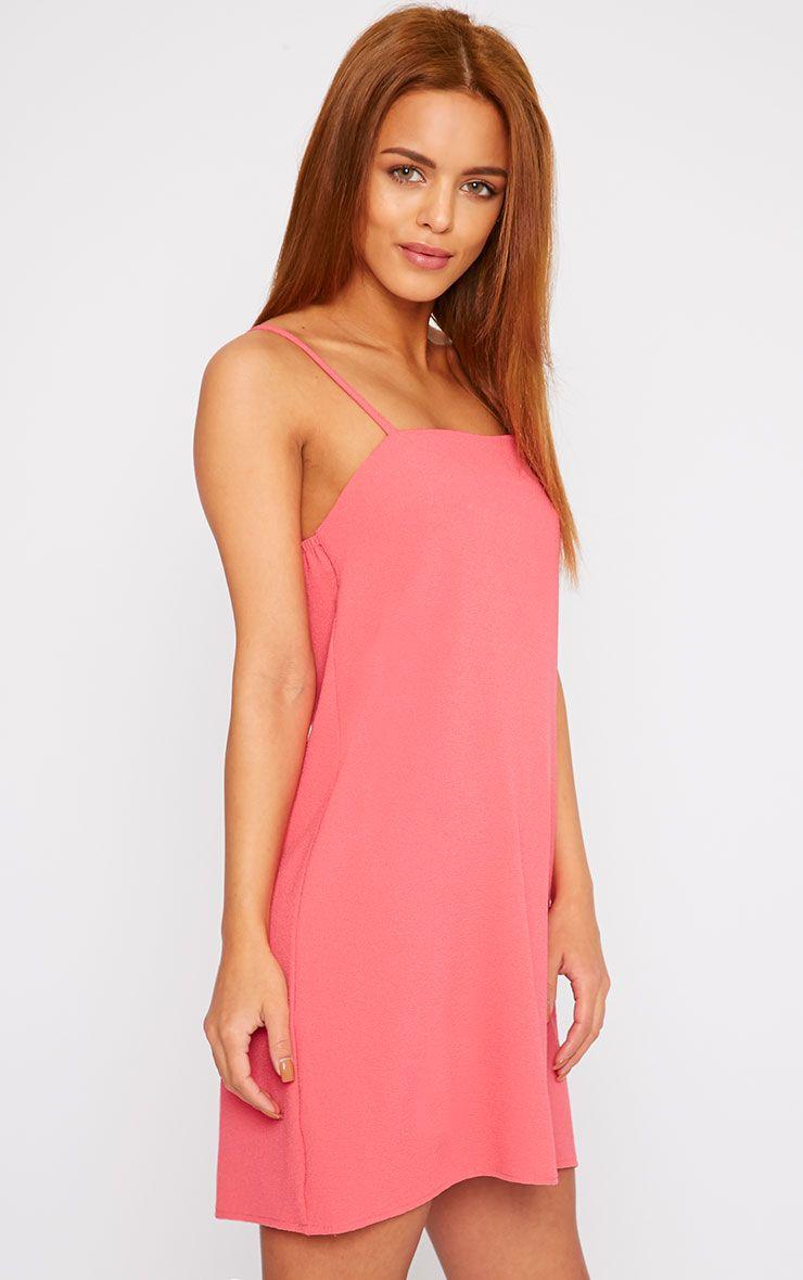 Joy Pink Crepe Cami Swing Mini Dress 1