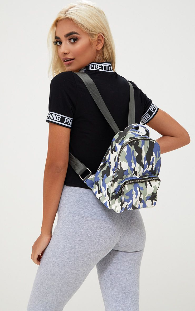 Grey Camo Mini Backpack