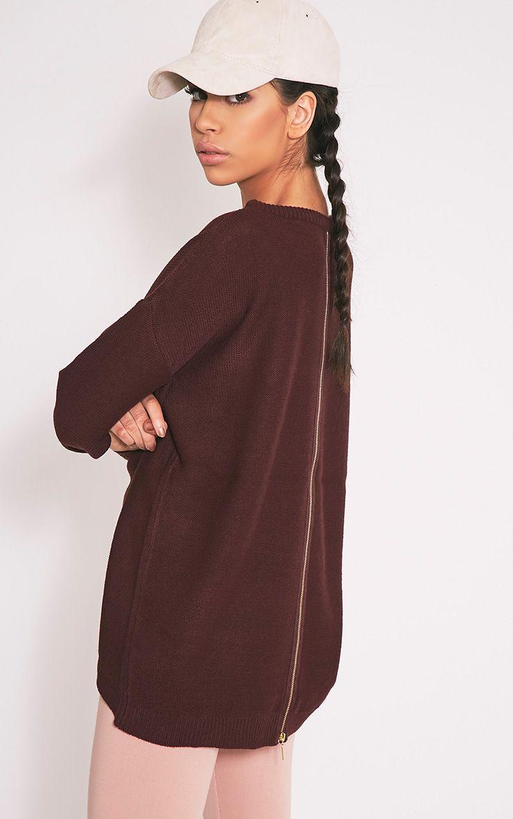 Trisha Berry Zip Back Knitted Jumper 1