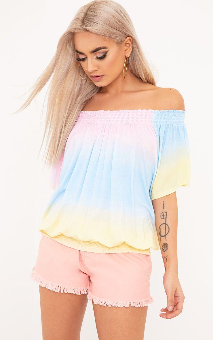 Tie Dye Bardot Top