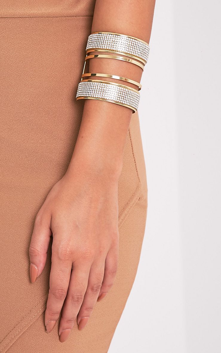 Gabi Gold Glitter Detail Bangle