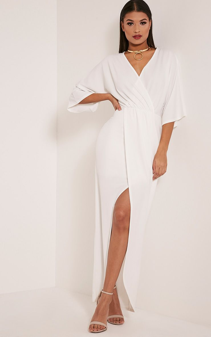 Archer Cream Cape Maxi Dress
