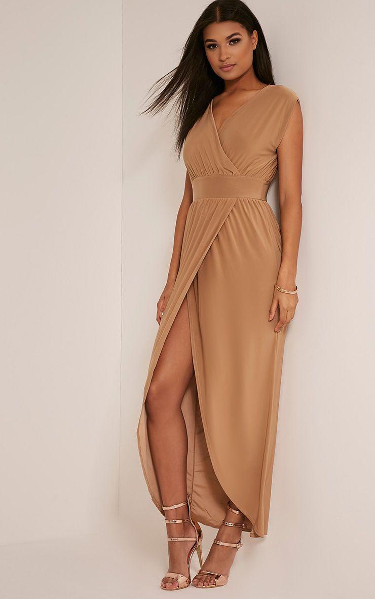 Marlisa Tan Slinky Plunge Maxi Dress 1