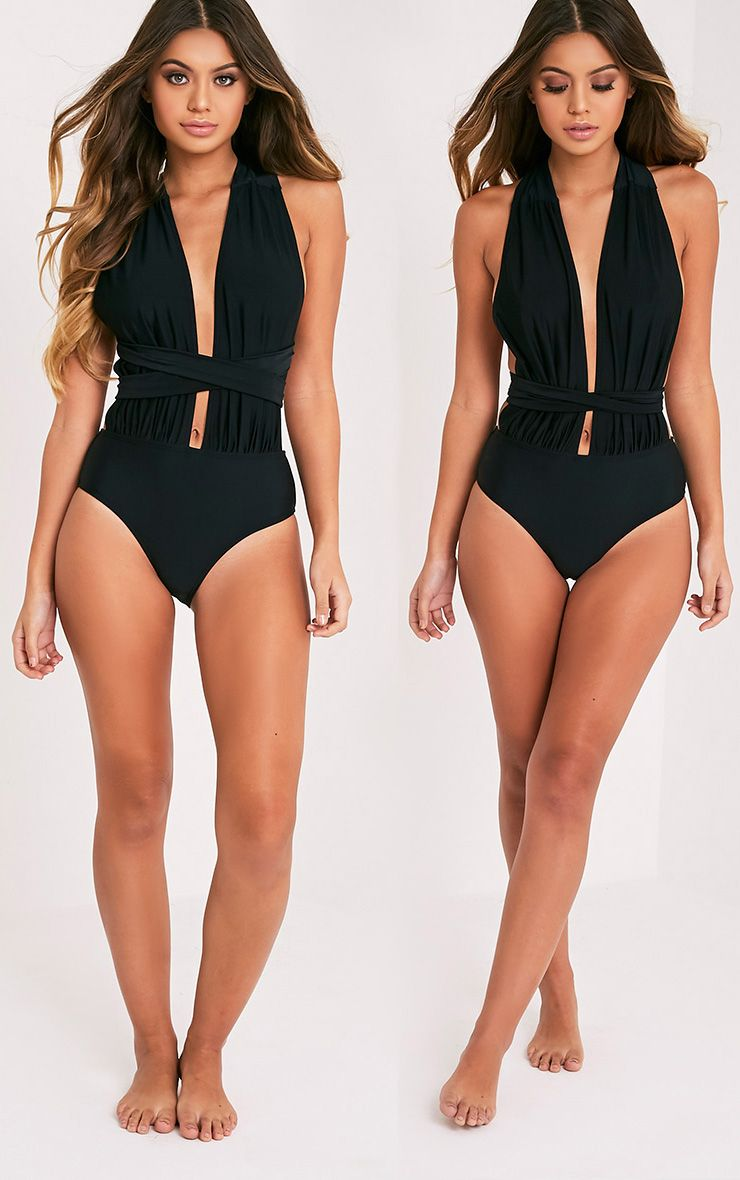 Amanda Black Multiway Swimsuit