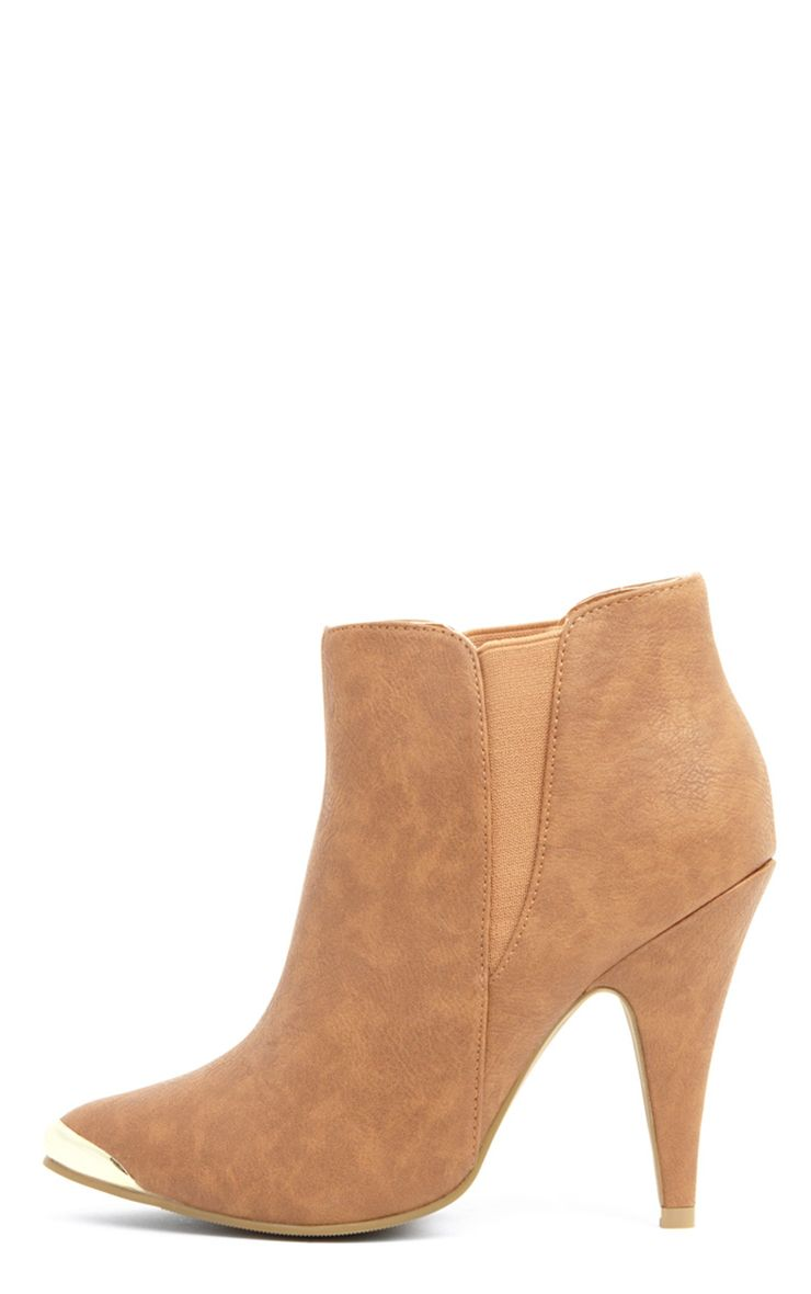 Anastasia Tan Leather Ankle Boots 1