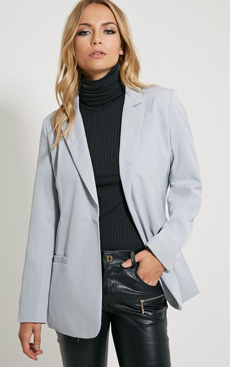 Tamu Grey Tailored Blazer 1