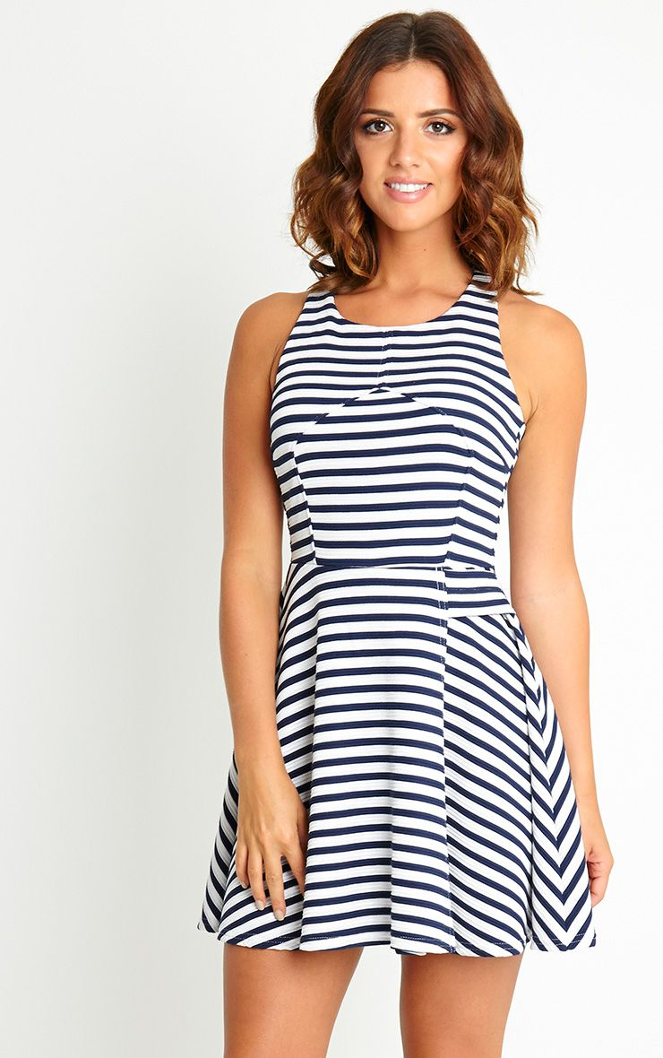 Jenni Stripe Skater Dress 1