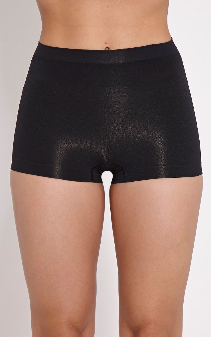 Black Tummy Tuck Bum Lift Control Shorts 1