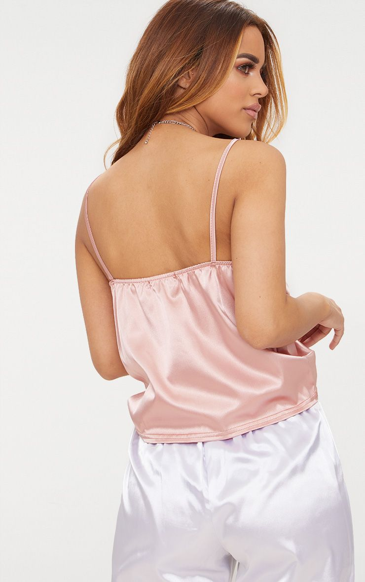 Free Shipping Genuine Petite Dusty Pink Satin Ruched Cami Top Pretty Little Thing Free Shipping 2018 Unisex prSwxofxNT