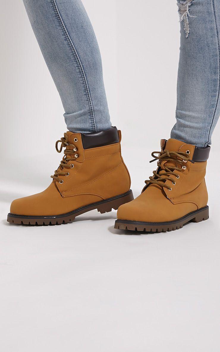 Arwen Camel Lace Up Boots 1