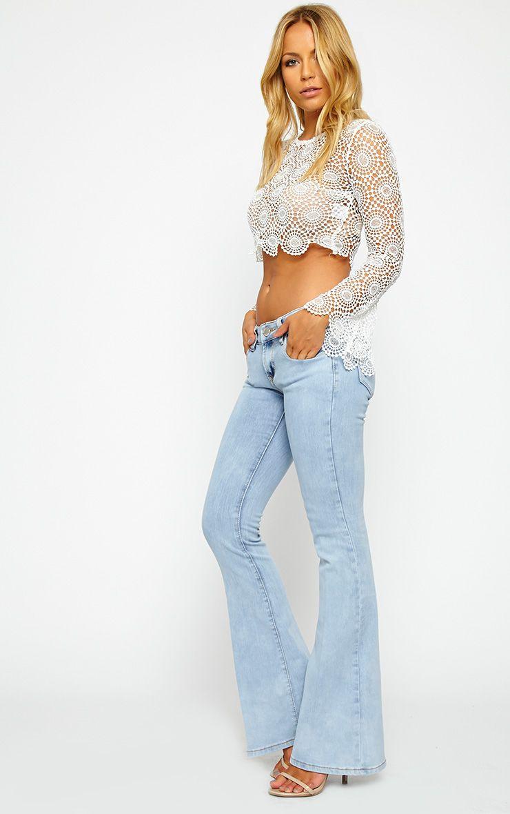 Billie Light Wash Flared Jeans 1