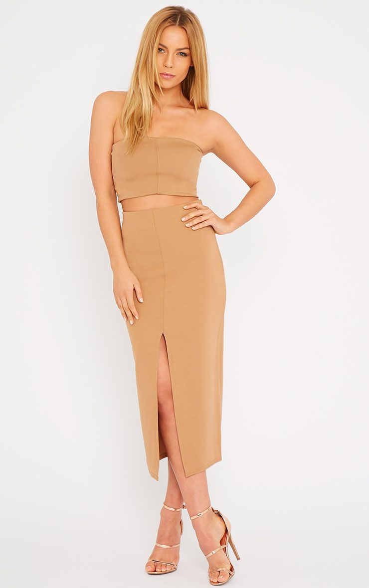 Kaja Camel Scuba Split Skirt 1