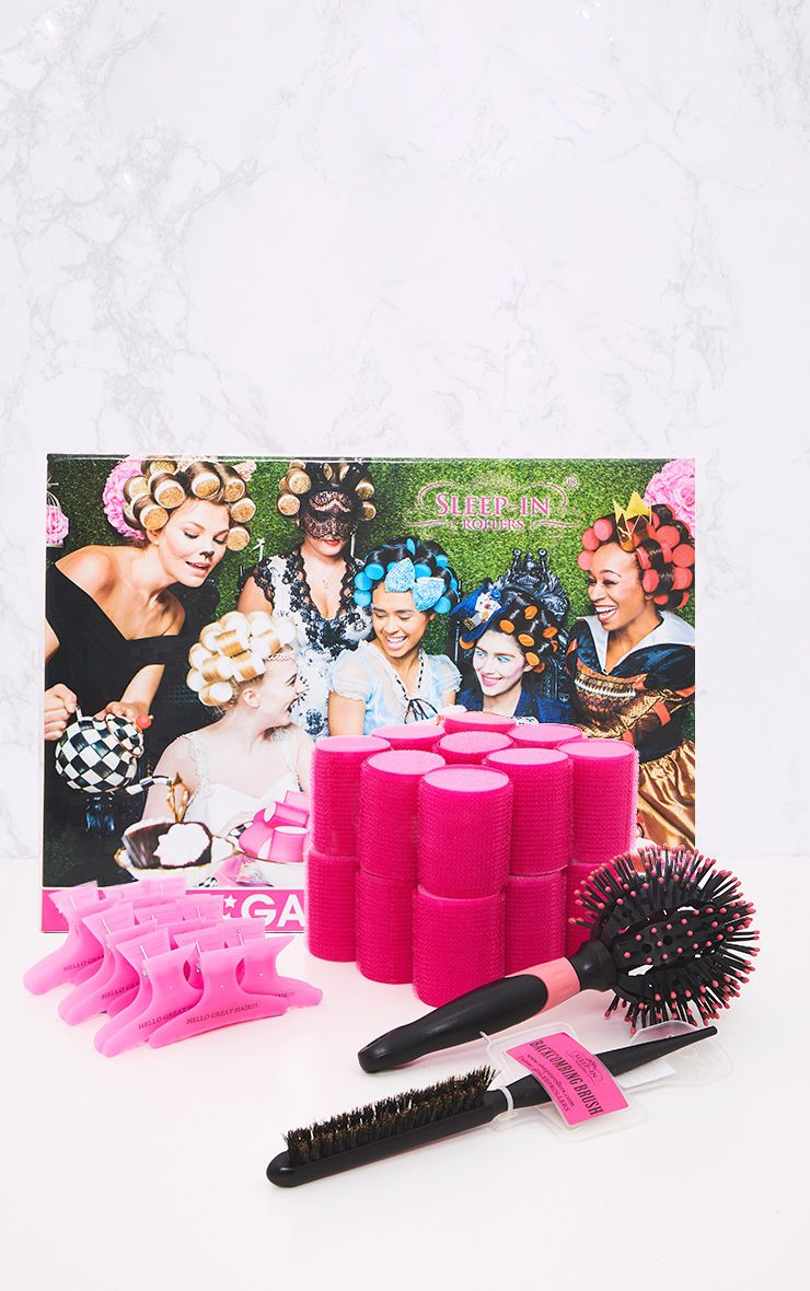Sleep In Rollers & Brush Set