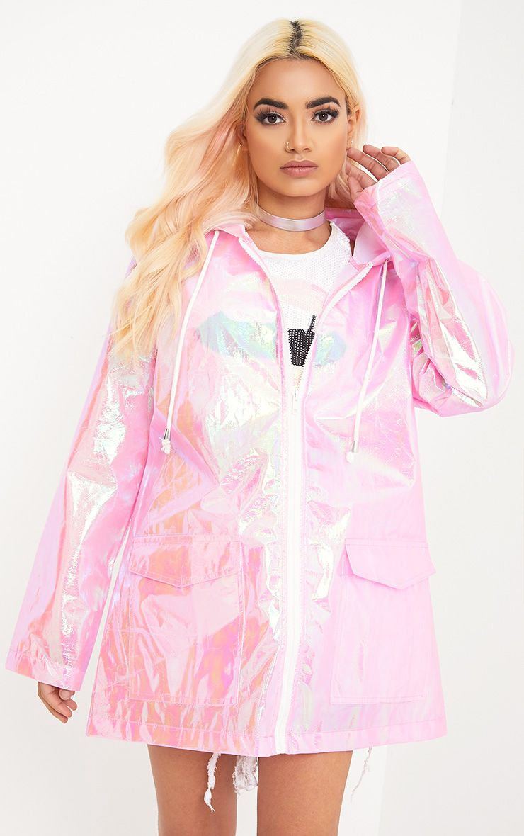 Cobie Pink Holographic Rain Mac