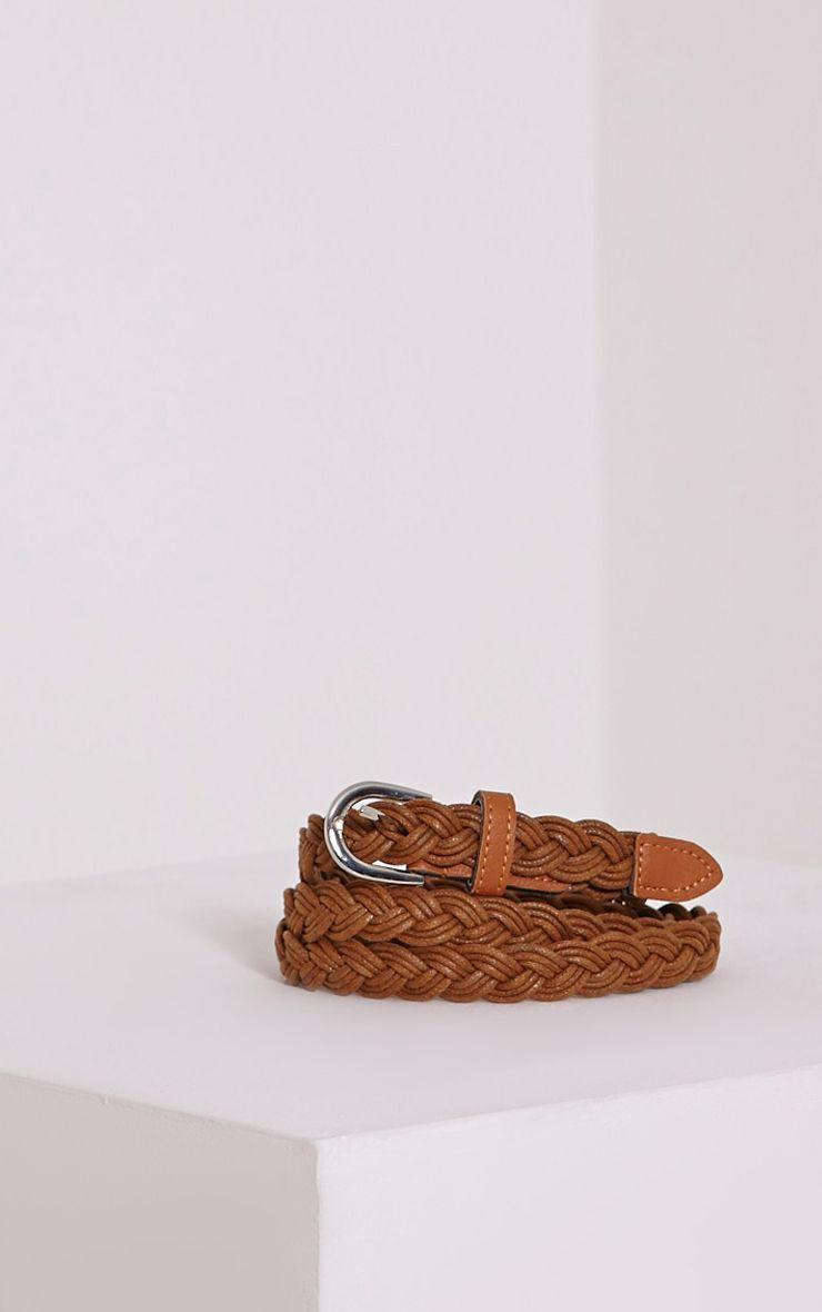 Lenora Tan Woven Belt 1