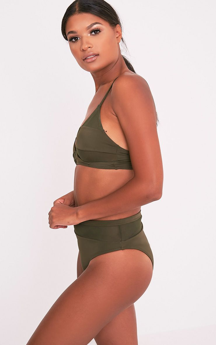 Genny top de bikini à coordonner kaki 4