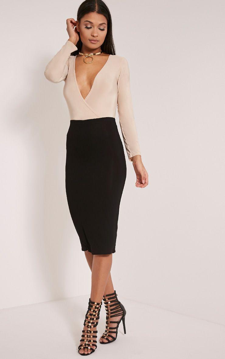 Basic Black Midi Skirt