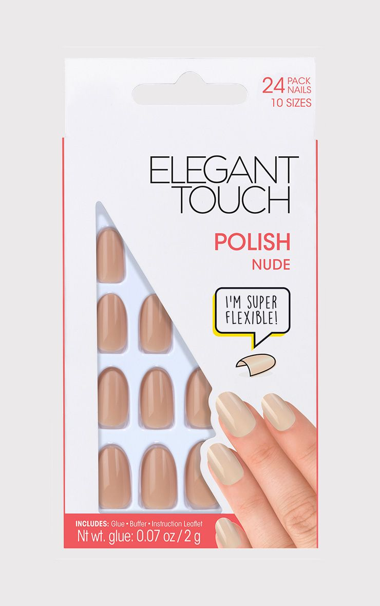 Elegant Touch Nude Polish Nails